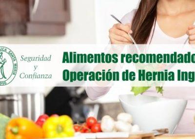 Alimentos recomendados tras la operación de hernia inguinal