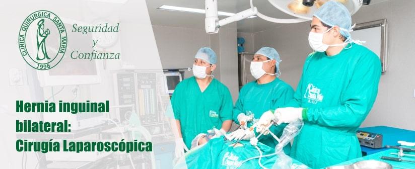 Hernia inguinal bilateral: Cirugía Laparoscópica