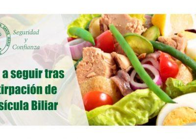 Dieta a seguir tras la extirpacíon  de la Vesícula Biliar